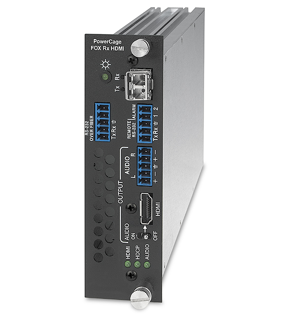 The Extron PowerCage FOX Rx HDMI