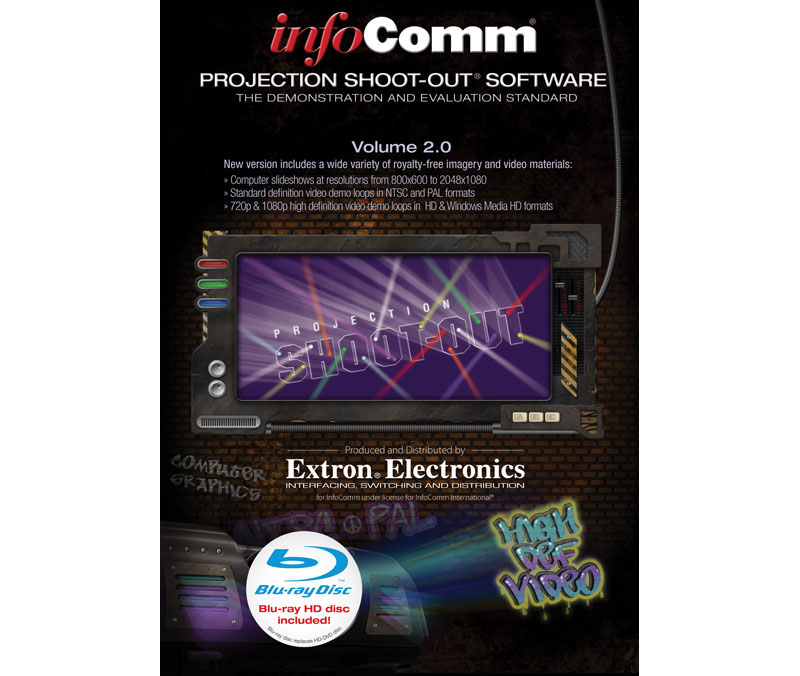 The Extron InfoComm® Projection Shoot-Out® Software Volume 2.0