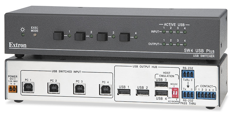 SW4 USB Plus - Four Input USB with Emulation