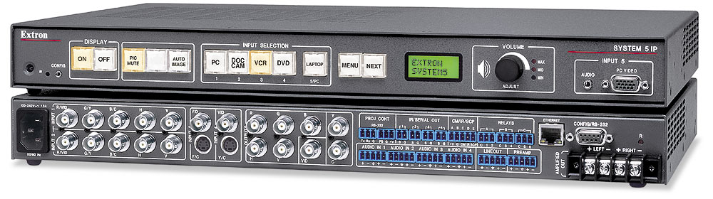 System 5 IP FPC SA - Switcher w/ Front Panel Control & Amp