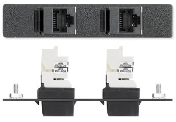 The Extron Two RJ-45 Female to Punch Down for CAT 6 - Panduit