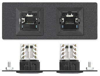 The Extron Two RJ-45 Female to Punch Down for CAT 6A - Systimax MGS Series