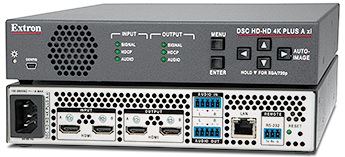 The Extron DSC HD-HD 4K PLUS A