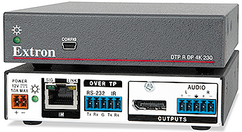 The Extron DTP R DP 4K 230