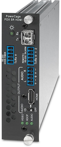The Extron PowerCage FOX SR HDMI