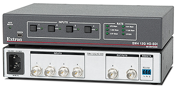 The Extron SW4 12G HD-SDI