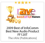 2009 Best of InfoComm Awards Best New Audio Product
