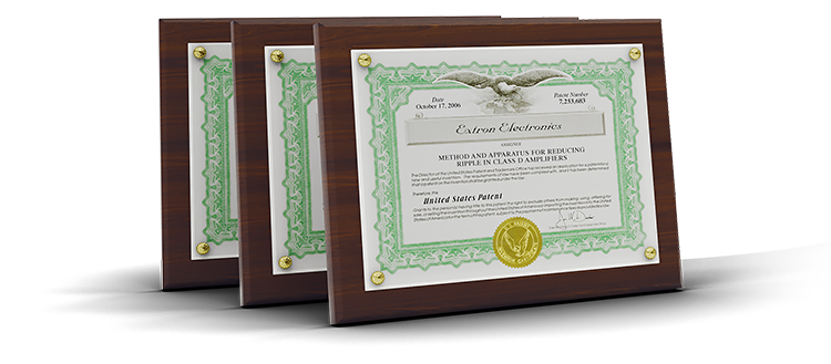 Three US patent plaques