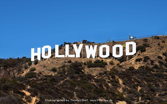 Hollywood Sign by Thomas Wolf, www.foto-tw.de.
