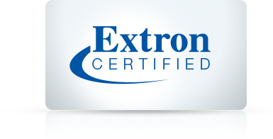 Extron Certified badge.